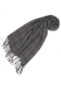 Cashmere + wool scarf gray checked LORENZO CANA