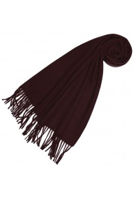 Scarf for women Burgundy Alpaca Wool LORENZO CANA