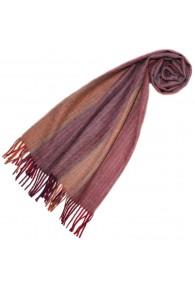 Scarf for men Pink Orange Alpaca Wool LORENZO CANA