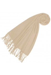 Scarf for men Creamy white alpaca wool LORENZO CANA