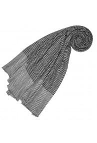 Cashmere mens scarf uncolored gray checkered LORENZO CANA