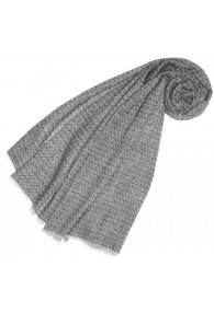 Cashmere mens scarf uncolored pebble gray LORENZO CANA