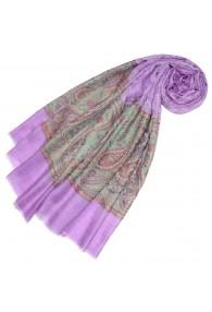 Cashmere scarf lilac Paisley LORENZO CANA