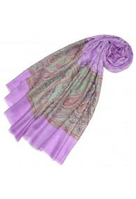 Cashmere mens scarf lilac Paisley LORENZO CANA