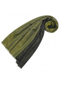 Cashmere scarf doubleface fir and gray green LORENZO CANA