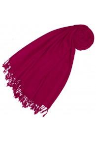 Cashmere + wool mens scarf raspberry plain LORENZO CANA