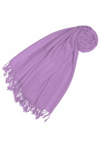 Cashmere + wool mens scarf lilac single color LORENZO CANA