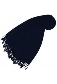 Cashmere + wool mens scarf dark blue monochrome LORENZO CANA