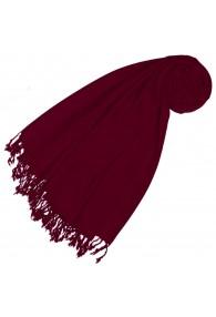 Cashmere + wool mens scarf wine red monochrome LORENZO CANA