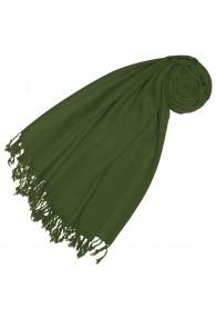 Cashmere + wool mens scarf fir green monochrome LORENZO CANA