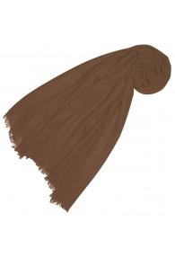 Cashmere mens scarf plain nutmeg LORENZO CANA
