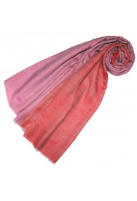 Cashmere scarf doubleface pink and salmon red LORENZO CANA