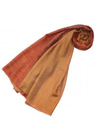 Cashmere mens scarf doubleface ocher and orange LORENZO CANA