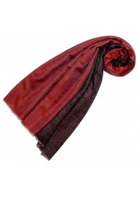 Cashmere scarf doubleface cranberry and blackberry red LORENZO CANA