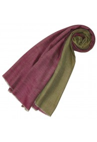 Cashmere mens scarf doubleface raspberry pink and fir green LORENZO CANA