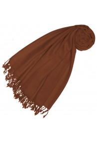 Cashmere + Wool mens scarf Nougat monochrome LORENZO CANA