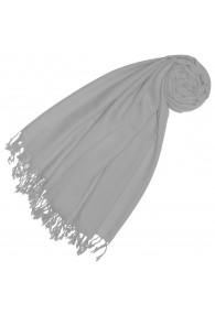 Cashmere + wool mens scarf light gray single color LORENZO CANA