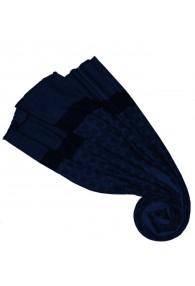 Fluffy Cashmere Stole Sapphire Blue Dark Blue LORENZO CANA
