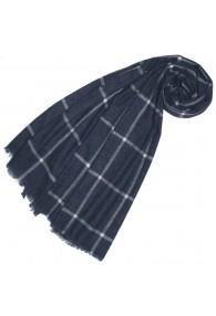 Fluffy Cashmere Stole Slate Blue LORENZO CANA