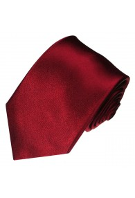 XL Neck Tie 100% Silk Uni Dark Red LORENZO CANA