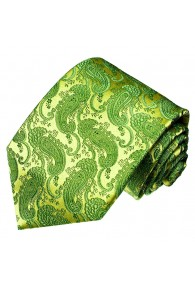 Neck Tie 100% Silk Paisley Green Lime LORENZO CANA
