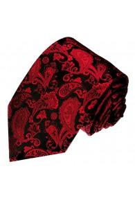 XL Necktie 100% Silk Paisley Dark Red LORENZO CANA