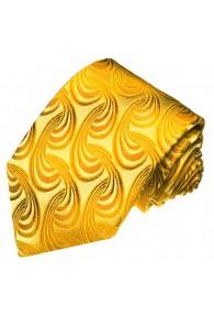 XL Necktie 100% Silk Paisley Gold Yellow LORENZO CANA