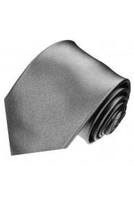 Neck Tie 100% Silk Uni Silver Grey LORENZO CANA
