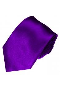 XL Necktie 100% Silk Uni Purple Violet LORENZO CANA
