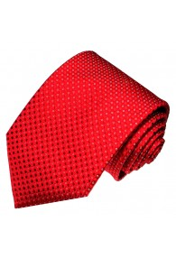 Neck Tie 100% Silk Polka Dot Red White LORENZO CANA