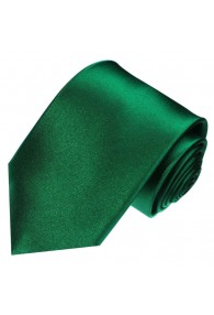 Neck Tie 100% Silk Uni Dark Green LORENZO CANA