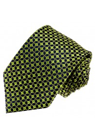 Neck Tie 100% Silk Polka Dot Green Blue LORENZO CANA