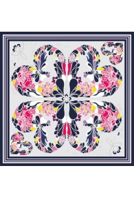 XXL Silk scarf multicoloured Floral LORENZO CANA online