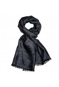 Men's Shawl Viscose Silk Paisley Black LORENZO CANA