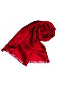 Women's Shawl Viscose Silk Paisley Red LORENZO CANA