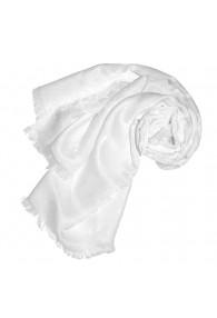 Women's Shawl Viscose Silk Paisley White LORENZO CANA