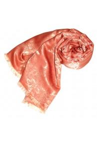 Women's Shawl Viscose Silk Paisley Orange LORENZO CANA