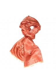 Men's Shawl Viscose Silk Paisley Orange LORENZO CANA