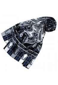 Women's Shawl Silk Gray Dark Blue LORENZO CANA