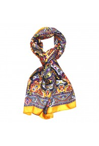 Men's Shawl Yellow Purple Black White Paisley LORENZO CANA