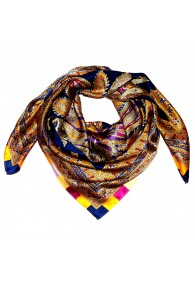 Scarf for men multicoloured silk Floral LORENZO CANA