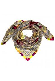 Scarf for men multicoloured silk Floral LORENZO CANA