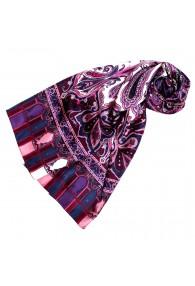 Seidenschal Damen violett rosa weiss Paisley LORENZO CANA