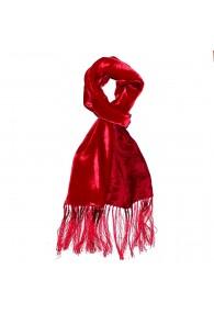 Men's Shawl Silk Velvet Damast Red LORENZO CANA