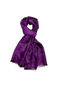 Men's Shawl Viscose Silk Paisley Purple LORENZO CANA