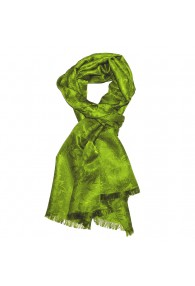 Shawl Viscose Silk Paisley Green For Men LORENZO CANA