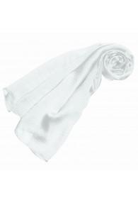 Luxury Women's Shawl 100% Silk White Stripes LORENZO CANA