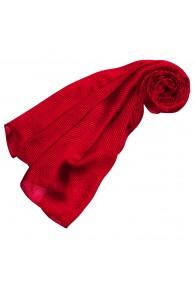 Luxury Women's Shawl 100% Silk Red Stripes LORENZO CANA