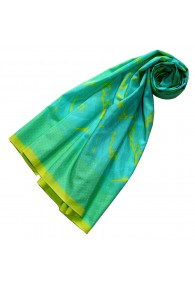 Scarf Silk Cotton Paisley Mint For Women LORENZO CANA