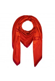 Scarf Silk Cotton Paisley Red For Men LORENZO CANA